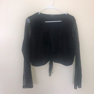 Womens crop top with an opening